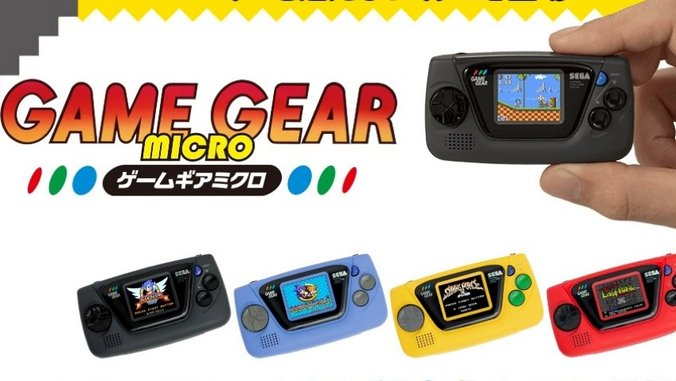 Sega Announces Bafflingly Small and Confusing Game Gear Micro for Japan