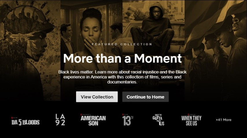 "Netflix Debuts New ""Black Lives Matter"" Collection of Movies, TV Series"