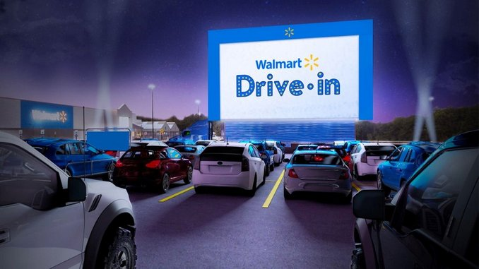 Walmart Is Creating its own Drive-In Movie Theaters in Unused Parking Lots