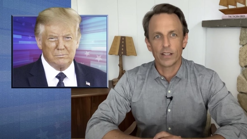Seth Meyers Takes a Closer Look at Trump's Rose Garden Meltdown