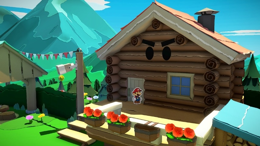 <i>Paper Mario: The Origami King</i>&#8212;How to Get in the Log Cabin