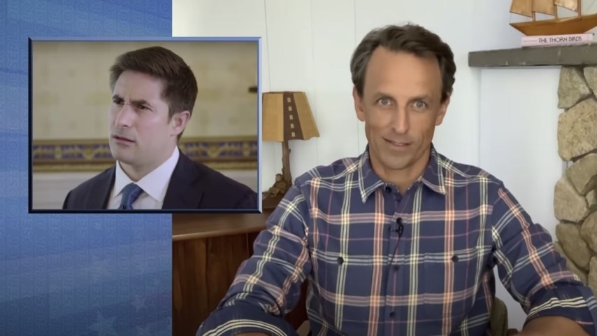 Seth Meyers Takes a Closer Look at Trump's Axios Interview