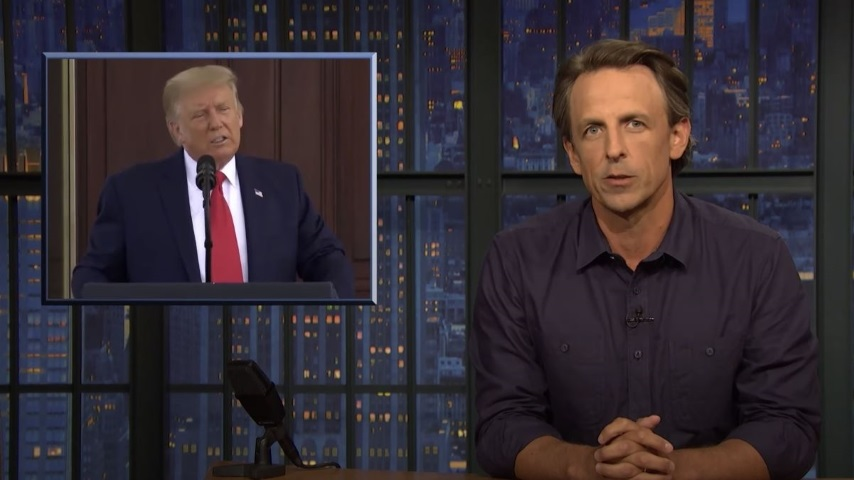 Seth Meyers Takes a Closer Look at Trump Allegedly Insulting the Troops