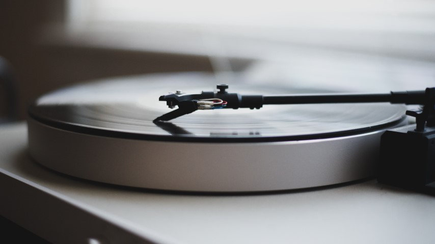 Vinyl record sales surpassed CDs for the first time since the 1980s