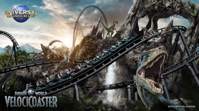 Universal Orlando's Next Roller Coaster, Jurassic World VelociCoaster, Scheduled to Open in 2021