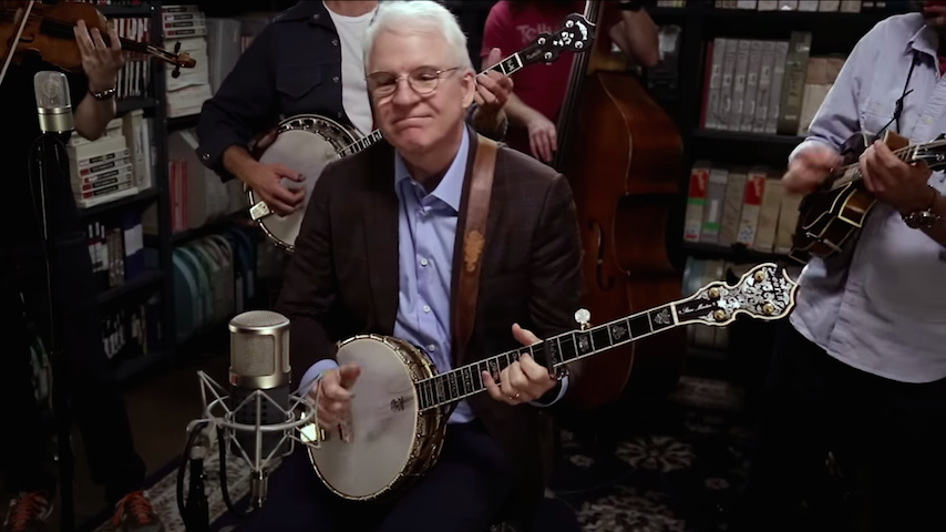 Watch Steve Martin & The Steep Canyon Rangers Corral in the <i>Paste</i> Studio on This Day in 2017