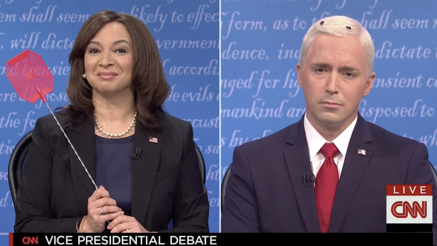 SNL Takes Aim at the Fly-Infested Vice Presidential Debate