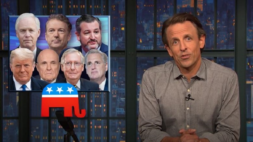 "Seth Meyers Takes a Closer Look at Trump's ""Campaign Against Reality"""