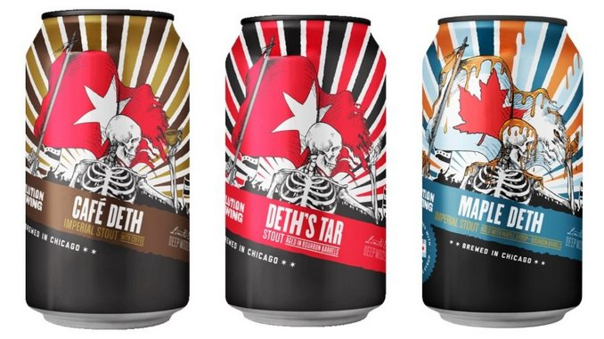 Tasting: 3 Revolution Brewing Deth's Tar Barrel-Aged Imperial Stouts