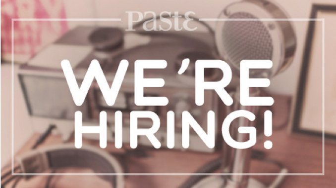 <i>Paste</i> Seeks Assistant Music Editor
