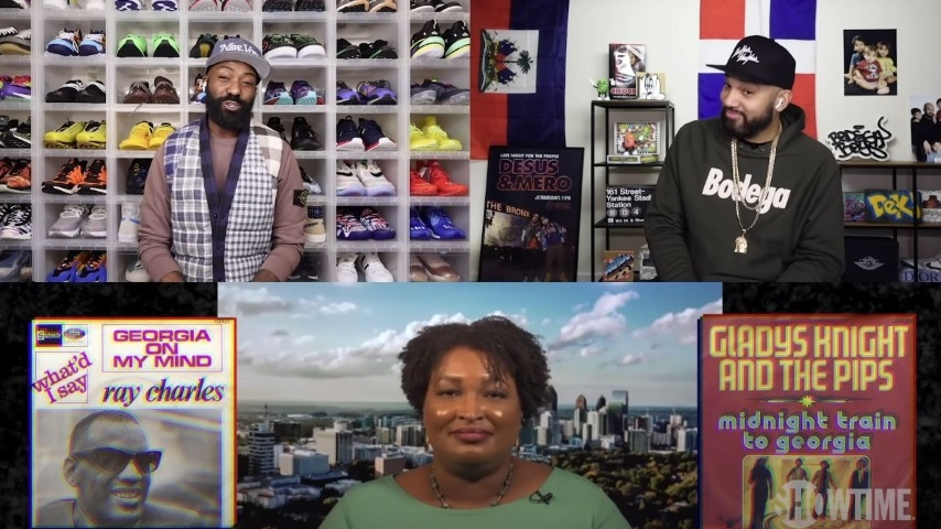 Desus and Mero Grill Stacey Abrams on Outkast, Buffy vs. Battlestar, and More