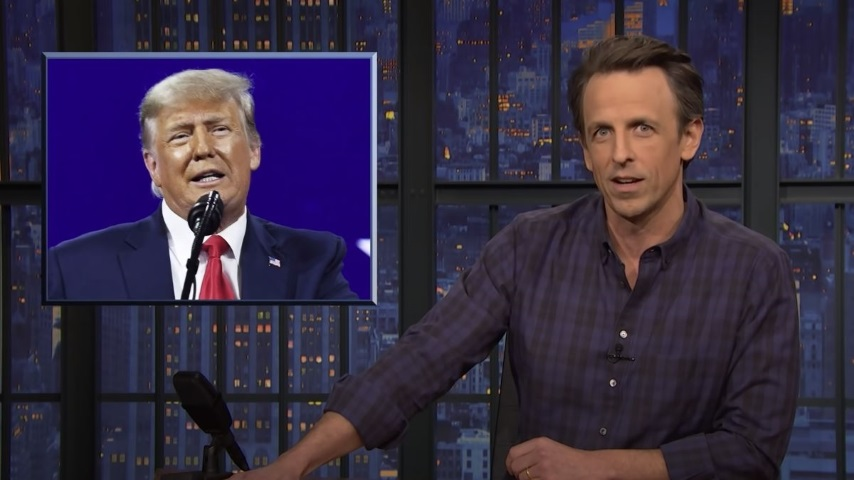 Seth Meyers Takes a Closer Look at Trump's CPAC Speech