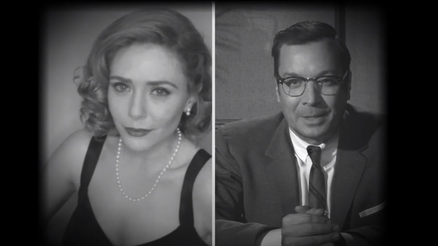 <i>WandaVision</i>'s Time-Hopping TV Nostalgia Takes Over <i>The Tonight Show</i> with <i>FallonVision</i>