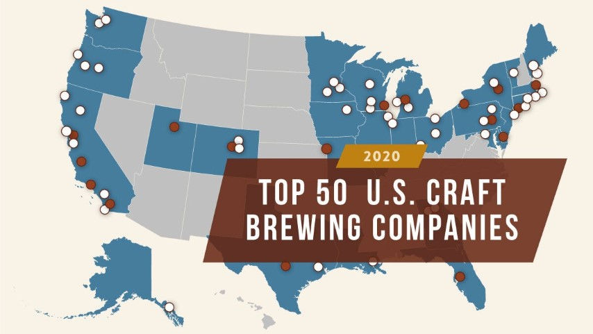 Brewers Association Reveals Top 50 U.S. Craft Brewing Companies for 2020