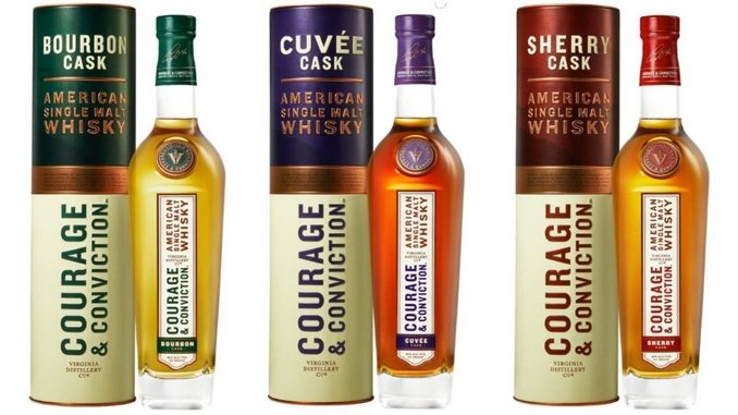 Tasting: Bourbon, Cuvée and Sherry Cask Single Malt Whiskies from Virginia Distillery Co.