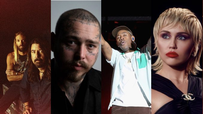 Lollapalooza 2021 Lineup Announced: Foo Fighters, Post Malone, Tyler, the Creator, Miley Cyrus to Headline