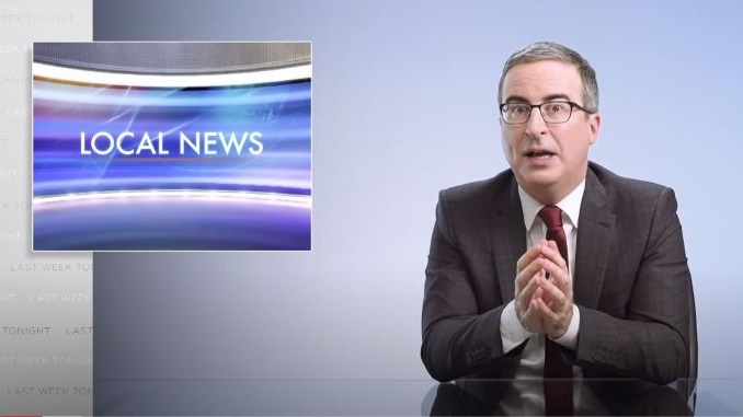 """John Oliver Creates a """"Sexual Wellness Blanket"""" to Point Out Local News Stations' Problem with Sponsored Content"""