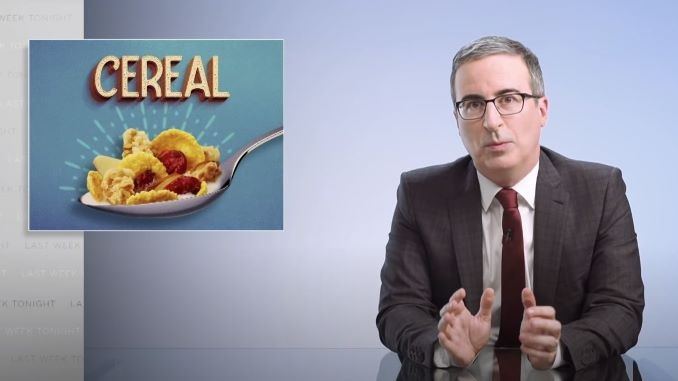 John Oliver Has Good Cereal Ideas in This <i>Last Week Tonight</i> Web Exclusive