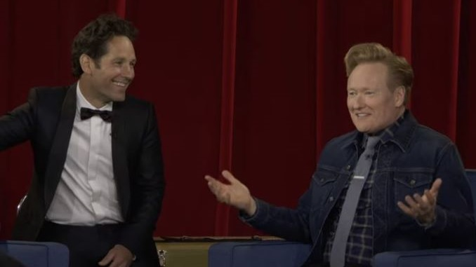 Paul Rudd's Final Prank on Conan O'Brien Brings One of Late Night's Best Running Gags to an End
