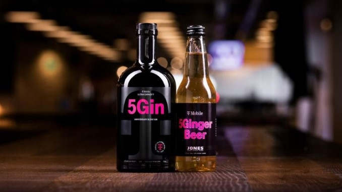 """T-Mobile Is Selling Bottles of Its Own """"5Gin,"""" with """"5Ginger Beer"""" Chasers"""