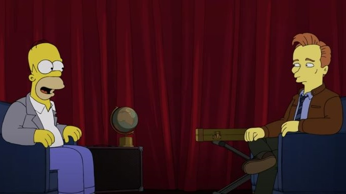 Homer Simpson Conducts Conan O'Brien's Exit Interview on the Last Episode of <i>Conan</i>