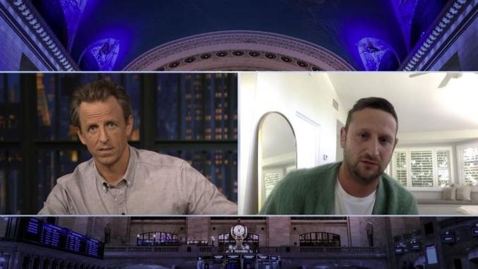 "Watch Tim Robinson and Seth Meyers Talk ""Coffin Flop"" on <i>Late Night</i>"