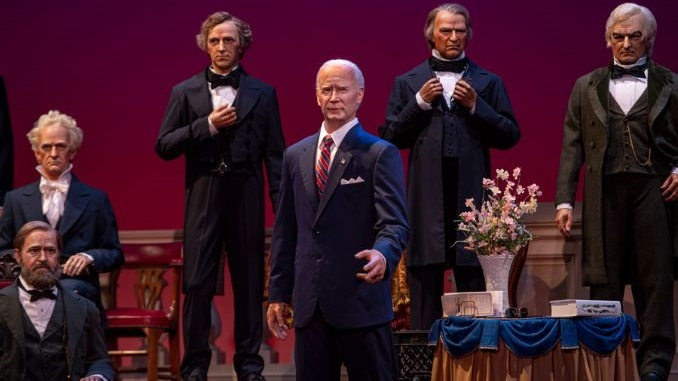 This Week in Theme Park News: Biden in The Hall of Presidents, Star Wars Hotel Poster, and More
