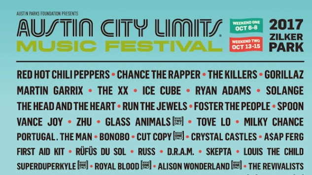 Austin City Limits Releases Massive 2017 Lineup With Chance, Spoon, More