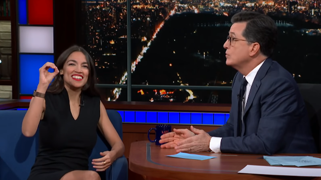 "Colbert, to AOC: ""How Many F---s Do You Give About the Democratic Establishment?"" AOC: ""Zero"""