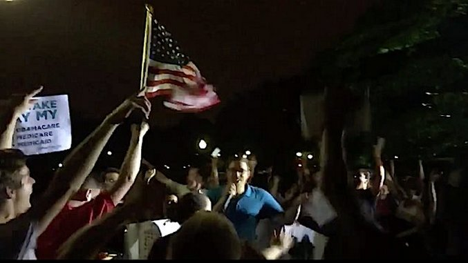 Watch: Activists Outside the Capitol React to News That the Republicans Lost the Healthcare Vote