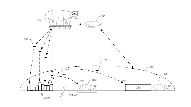 Amazon Has Patented Floating Warehouse Blimps