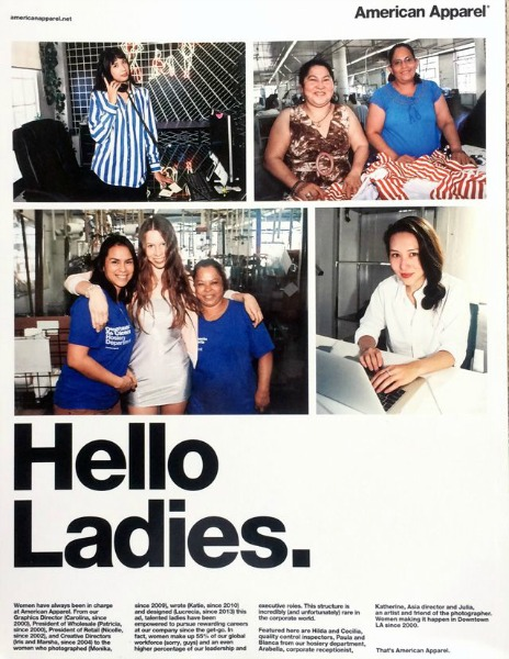 American Apparel Charters New Image With Hello Ladies Campaign  Style  News -5427
