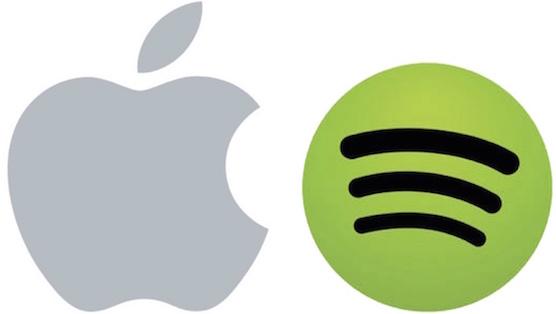 Apple logo Spotify logo