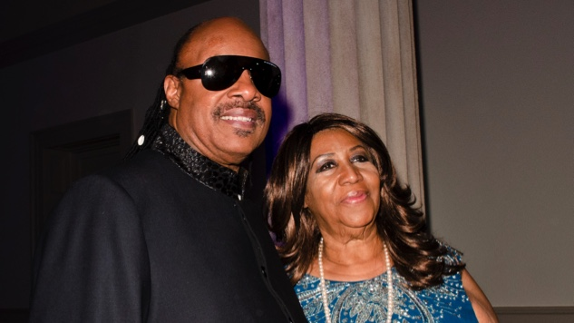 Stevie Wonder Visited an Ailing Aretha Franklin at Home