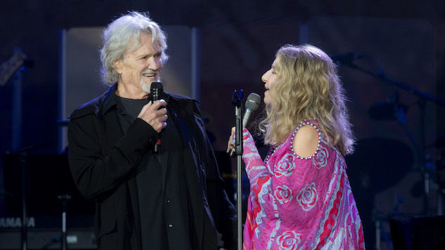 <i>A Star Is Born</i> Costars Barbra Streisand, Kris Kristofferson Reunite for Classic Duet