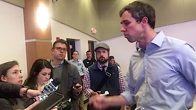 "Watch: Beto O'Rourke Compares Trump Rhetoric to ""Third Reich,"" Won't Back Down When Questioned"