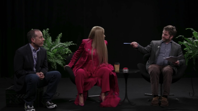 Zach Galifianakis Brings Back <i>Between Two Ferns</i> to Drag Jerry Seinfeld, Rain Praise on Cardi B