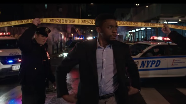 "Chadwick Boseman Stars as ""Guy Who Kills Cop Killers"" in New <i>21 Bridges</i> Trailer"