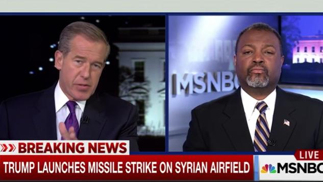 Watch Serial Liar Brian Williams Worship the God of War on MSNBC