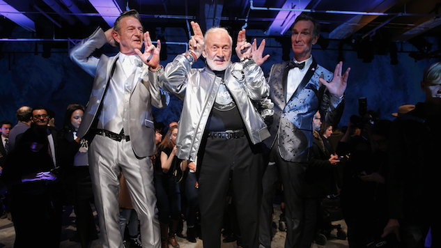 Buzz Aldrin Makes Modeling Debut at N.Y. Men's Fashion Week