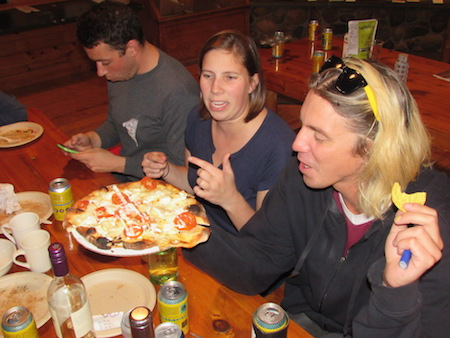 Campers Show off Their Pizzas.JPG