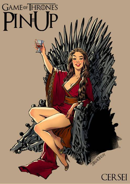 Of Thrones Characters Drawn As Pin Up Girls Design News Paste