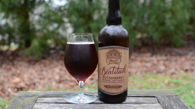 Council Beatitude Boysenberry Barrel Aged Imperial Tart Saison Review