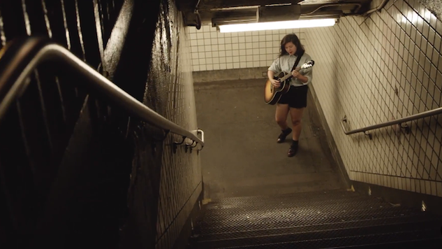watch lucy dacus perform in a subway stairwell in her take away show music video lucy. Black Bedroom Furniture Sets. Home Design Ideas