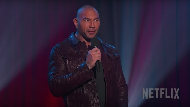 Dave Bautista Debuts Trailer for Horrendously Awful Fake Netflix Stand-Up Special