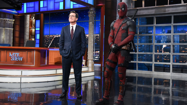 Deadpool Ambushes <i>The Late Show</i>, Riffs with Stephen Colbert