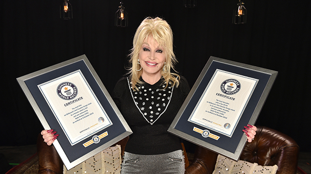 Dolly Parton Celebrates Two Listings in the Guinness Book of World Records
