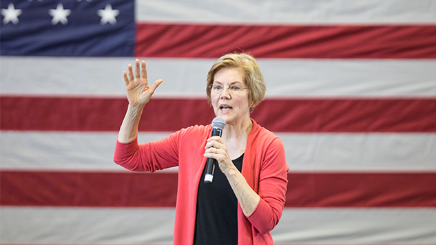 Elizabeth Warren Leads Joe Biden in New Poll of First 18 Primary States