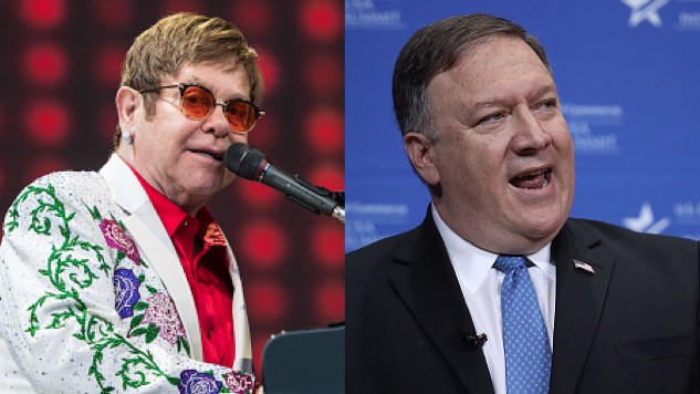"Mike Pompeo Gifting CD with Elton John's ""Rocket Man"" to Kim Jong-un"