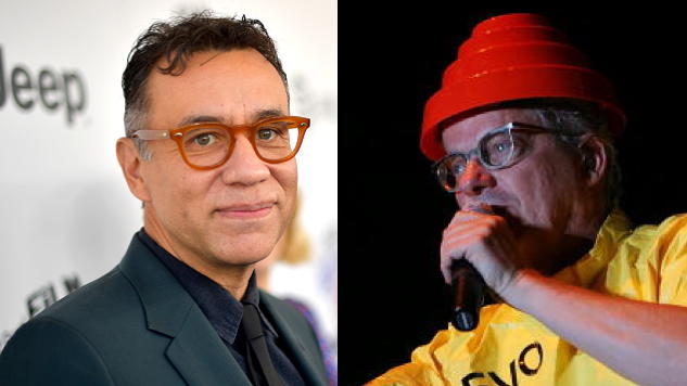 "Watch Fred Armisen ""Whip It,"" Whip It Good Onstage with Devo at Burger Boogaloo Fest"